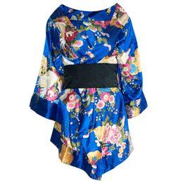 Wholesale Fancy Pajamas - High Quality Adult Geisha Girl Costume Japanese Anime Kimono Costume Ladies Floral Fancy Dress Underwear Pajamas Robe Sleepwear HF001