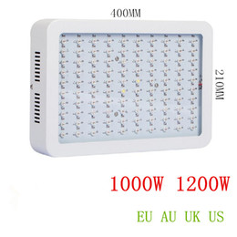Wholesale Ir Light Panel - Double chip LED grow light panel 1000W 1200W 9 Band Red Blue White UV IR Full Spectrum Led Plant Growing Lighting Lamps
