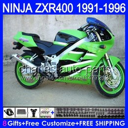 Wholesale Kawasaki 1992 - Green black 8gifts For KAWASAKI NINJA ZXR400 91 92 93 94 95 96 ZX-R400 51HM ZXR-400 ZXR 400 1991 1992 1993 1994 1995 1996 Fairing Green blk