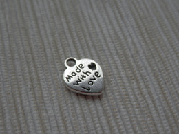 Wholesale Love Tone - 100 Made With Love Word Antique Silver Tone Zinc Alloy  1032