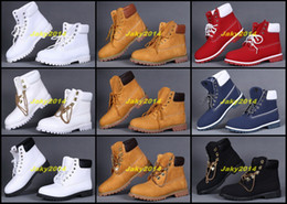 Wholesale White Ankle Boot Womens - Wholesale Mens and Womens Cheap Ankle Boots Gold Chain Lace Work Hiking Shoes For Outdoor Winter Snow Solid Warm Casual Sneakers