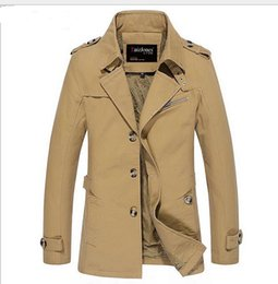 Wholesale Long Sections Trench Coats - Men Jacket Coat Long Section Fashion Trench Coat Jaqueta Masculina Veste Homme Brand Casual Fit Overcoat Jacket Outerwear 5XL NEW BRARD 01