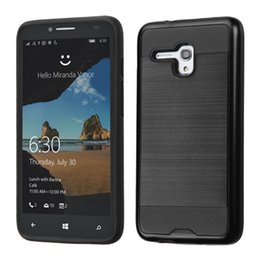 Wholesale Hot Armor - Hot Hybrid Mars Armor Brushed Metal Case Back Cover for Alcatel Walters Dawn 5027 Alcatel One Touch Idol 4 Fierce 4 Pop 4