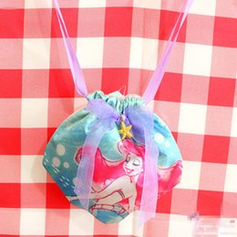 "Wholesale Drawstring Bags Princess - Top New 5.5""*4.7"" 14CM*12CM Plush Bag The Little Mermaid Ariel Princess Handbags Drawstring Pouches For Children Soft Best Gifts"