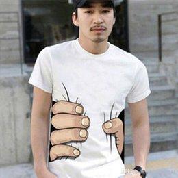 Wholesale Wholesale Clothing Tshirts For Men - Fashion Men€s Clothing O-neck Short Sleeve Men Shirts 2D Big Hand T Shirt Men Tshirts Tops Tees For Man Fashion