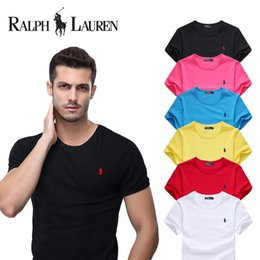 Wholesale Mens Plus Size Clothes - t shirt men brand clothing summer solid t-shirt male casual tshirt fashion mens Cotton Breathable short sleeve plus size S-4XL High Quality