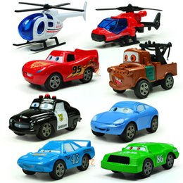Wholesale Cars Toys 86 Truck - 100% Original Cars 2 No.43 Mack & The King No.95 Mcquen No.86 HTB 1:64 Diecast Metal Loose Toy Car Set Lightning McQueen