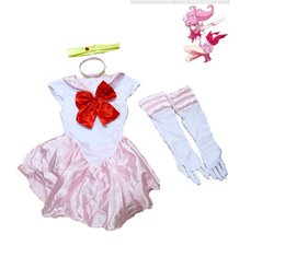 Wholesale Pink Sailor Costumes - Halloween Adult Women's Sailor Moon Cosplay Costume Uniform Party Dress One size