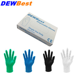 Wholesale Wholesale Black Gloves - DEWBest Free shipping high quality Black Nitrile Gloves Disposable Nitrile Oil and Acis Wholesale Industrializationd Latex Glove