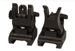Wholesale Back Up Sights - Iron Folding #71L-F R Set Front & Rear Flip-up Back-up Tactical Sites Sights (BK) Free Shipping