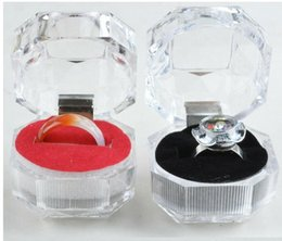 Wholesale Jewelry Cases For Rings - Transparent Acrylic Displays Rings Organizer Gift Package Carrying Case 2016 New Arrival Wedding Jewelry Box for Lady Women