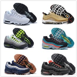 Wholesale Multi Coloured Lights - Air Sports 95 Running Shoes Hight Quality 30 Colour Mens Black Men best Athletic walking Tennis Shoes Grey Man Training Sneakers EUR 40-46