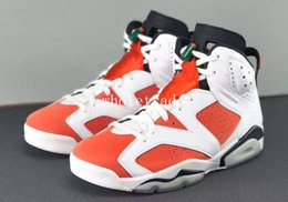 Wholesale Basketball Mike - Free Shipping air retro 6 Like Mike Basketball Shoes Mens retro 6s Like Mike White Red Sneakers Size us 8-13