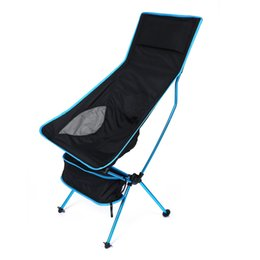Wholesale Portable Hiking Chair - Portable Folding Fishing Chair Detachable Aluminium Alloy 7050 Extended Seat Chair for Camping Hiking Outdoor Activities