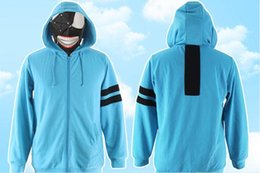 Wholesale Ken Costume - Japanese Anime Tokyo Ghoul Cosplay Kaneki Ken Daily Costume Blue Sweater  Hoodie for Man and Woman Daily Use