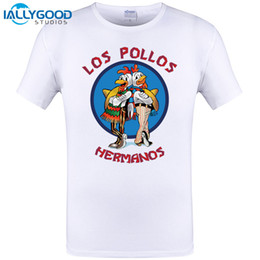 Wholesale Los Pollos Hermanos T Shirt - Men's Fashion Breaking Bad Shirt 2017 LOS POLLOS Hermanos T Shirt Chicken Brothers Short Sleeve Tee Hipster Hot Sale Tops 6XL