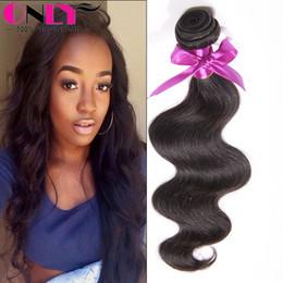 Wholesale Cheap 1pcs Hair Extension - Mink Brazilian Hair 1pcs Bundles Body Wave Peruvian Malaysian Indian Human Hair Weave Unprocessed Cheap Virgin Hair Extensions Free Shipping