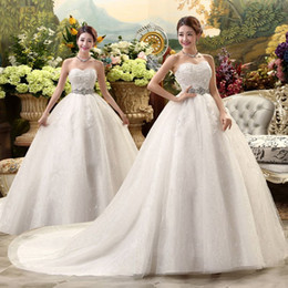 Wholesale Muslim Bride Models - MD24 Fashionable sexy large train 2017 crystals wedding dress plus size custom made bridal dresses ball gown bride gowns vestido de noiva