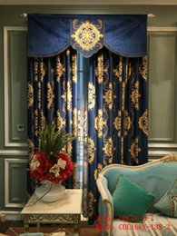 Wholesale Custom Living Room Curtains - Contracted and contemporary European water soluble hollow yarn curtain cloth embroidered custom curtain finished shading the sitting room th