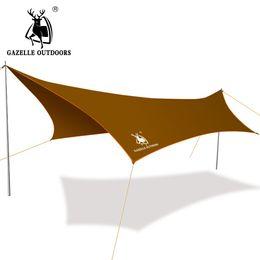 Wholesale Blue Awning - Wholesale- Large Camping Tent Awning Beach Fishing Hiking Outdoor Camping Awning Waterproof Sunshade Beach Mat Sun Shelter 3x4m