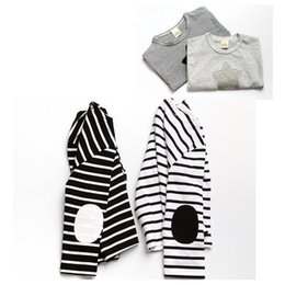 Wholesale Cute Tops For Winter - 2016 Kids Striped T Shirts Autumn Cotton Tops For Baby Cute Girls Boys Long Sleeve Star Printed Shirts Childrens Clothing