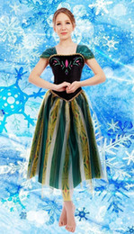 Wholesale Ice Princess Costumes - Wholesale-Elsa&Anna Birthday Fashion Ice Snow Queen Party Costume Cosplay Dress Adult Girls Lady Cinderella Snow White Princess