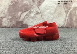 Wholesale A3 Red - hotsale Rainbow VaporMax 2018 BE TRUE Shock Kids Running Shoes Fashion Children Casual Vapor Maxes Sports Shoes free shipping