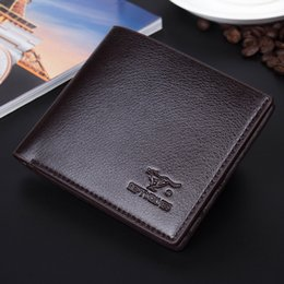 Wholesale Photo Simulation - Wholesale For Men Short Wallet Men's Casual Fashion Simulation Leather Wallet Men Wallets Purse Suit Bags Genuine Leather Designer Wallet