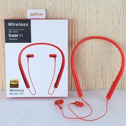Wholesale Headphone Ex - Wireless bluetooth 4.1 earphone neckband headset earbuds headphone h.Ear MDR ES-750A EX-750BT with mic for Sony with retail packaging
