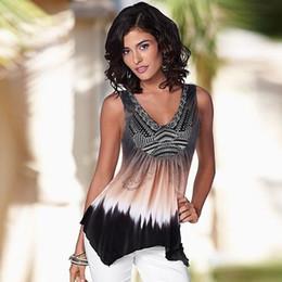 Wholesale Womens Sleeveless Tops Xl - Wholesale- New Arrival Womens Sexy V-neck Sleeveless Shirts Slim Casual Tops Vest women clothes vestiti 2017 vicky