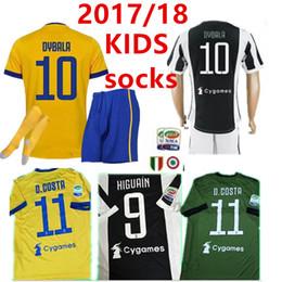Wholesale Old Socks - KIDS kit+socks, 2017-year-old HIGUAIN POGBA football shirt 2017 2018 CUADRADO DYBALA MARCHISIO BONUCCI MANDZUKIC CHIELLINI MARCHISIO footb