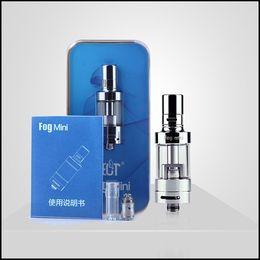 Gafas online-Original ECT Fog Mini Atomizer 2.5ml Control de flujo de aire Pyrex Glass Tank Fit ET 30P mod ET 50 mod
