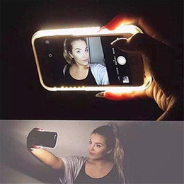 Wholesale Flash Edge - LED Flash Lighting Selfie Phone Case For Iphone x   iphone 8 8 Plus Selfie Hard PC Lights Cover For Samsung S6  S7   Edge