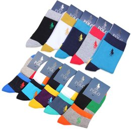 Wholesale Casual Tube - 2018 new hot sales Men's Polo Brand Socks 100% cotton leisure Terry boat Contact sports socks Men's short tube basketball movement socks