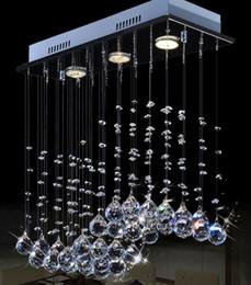 Plafones rectangulares online-Cocina de techo suspendido iluminación led moderna lámpara de techo de cristal lámpara de cristal de techo rectangular de lujo 9080D03C #