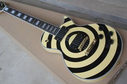 Wholesale Mahogany Ship Models - Free shipping Zakk Wylde Model Electric Guitar in Yellow and black color