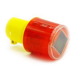 Wholesale Wholesale Solar Warning Light - Wholesale-Solar Powered Traffic Warning Light LED Solar Safety Signal Beacon emergency Alarm Lamp