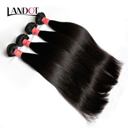 12 24 extensions en Ligne-Brazilian Straight Virgin Human Hair Weaves Bundles 8A Grade Non transformé Peruvian Indian Malaysian Cambigian Brazillian Remy Hair Extensions