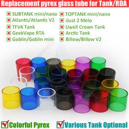 Vidro de substituição melo on-line-Substituição de vidro Pyrex Tubo Subtank Toptank Mini Nano Triton Atlantis Apenas melo 2 TFV4 Ártico GeekVape Crown Goblin 2 Tanque Rebuildable