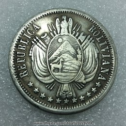 Wholesale money draw - replica REFUBLICA BOLIVIANA 1867 500.G 9.D FINO 38mm 27g Wholesale Buy 10 or more free gifts
