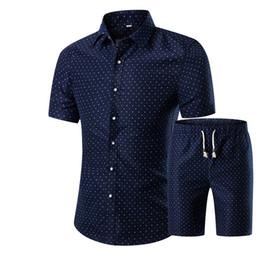 Canada Gros-Hommes Chemises + Shorts Set 2016 New Summer Casual Imprimé Hawaïen Chemise Homme Court Mâle Impression Robe Costume Ensembles Plus La Taille Offre