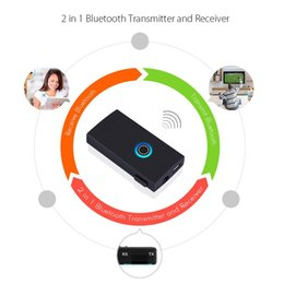 Wholesale Hifi Bluetooth Transmitter - Wholesale- DBPOWER 2 in 1 Bluetooth Transmitter and Receiver Audio Music Wireless Transmitter Receiver with 3.5mm Stereo Adapter for MP3 TV
