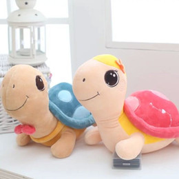 Wholesale Turtle Teddy - 1 piece kawaii STYLE George Eva turtle for lovers stuffed animals baby kids toys pillow cushion cloth doll