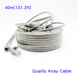 Wholesale Power Cable Network - High Quality RJ45 Cat5e Video Network Cable & 12V DC Power Cable 5mm Combo Combine Dedicated Line Wire 40m for Array IP Camera