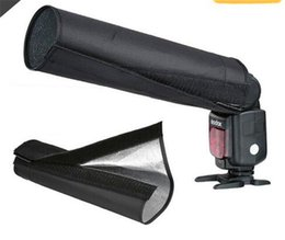 snoot flash Promotion Universel pliable Snoot lumière Flash Beam Pad Softbox tissu pour Canon EOS Nikon Flash Camera