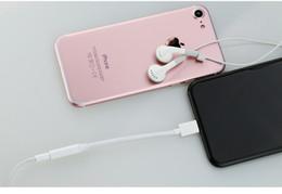 hdmi kopfhöreradapter Rabatt Audio Kabel Adapter Konverter Kabel Beleuchtung zu 3,5mm Für iPhone 7 Weiblichen Kopfhörer Kopfhörer Jack Converter Für iPhone 6 s 7 7 Plus AUX Cabl