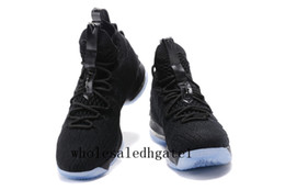 Wholesale Red Plastic Meshes - LeBron 15 Black Ice LeBRon 15 James Men Basketball Shoes Lebron shoe Arrival LBJ Sneakers 15s High Cut Mens Casual Shoes