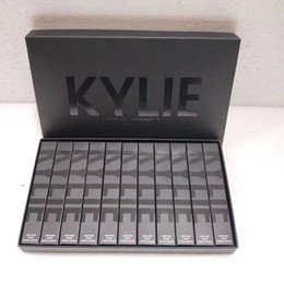 Wholesale Boys Size 11 - Dropshipping Sneak peek Kylie 11 colors New Velvets Liquid Lipstick kit Purple Halloween Lip Gloss Los key Basic Boy Bye Punk