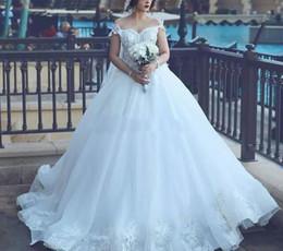 Wholesale Wedding Gowns Pregnant Bride - Said Mhamad 2018 Wedding Dresses Arabic Dubai Bride Robes A-line Vintage Wedding Dress Maternity Pregnant Off Shoulder Bridal Gowns