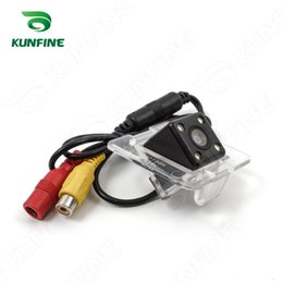Wholesale Glk Led - CCD Track Car Rear View Camera For Benz GLK 2009 2011 Parking Assistance Camera with Track line Night Vision LED Light Waterproof KF-V1240L
